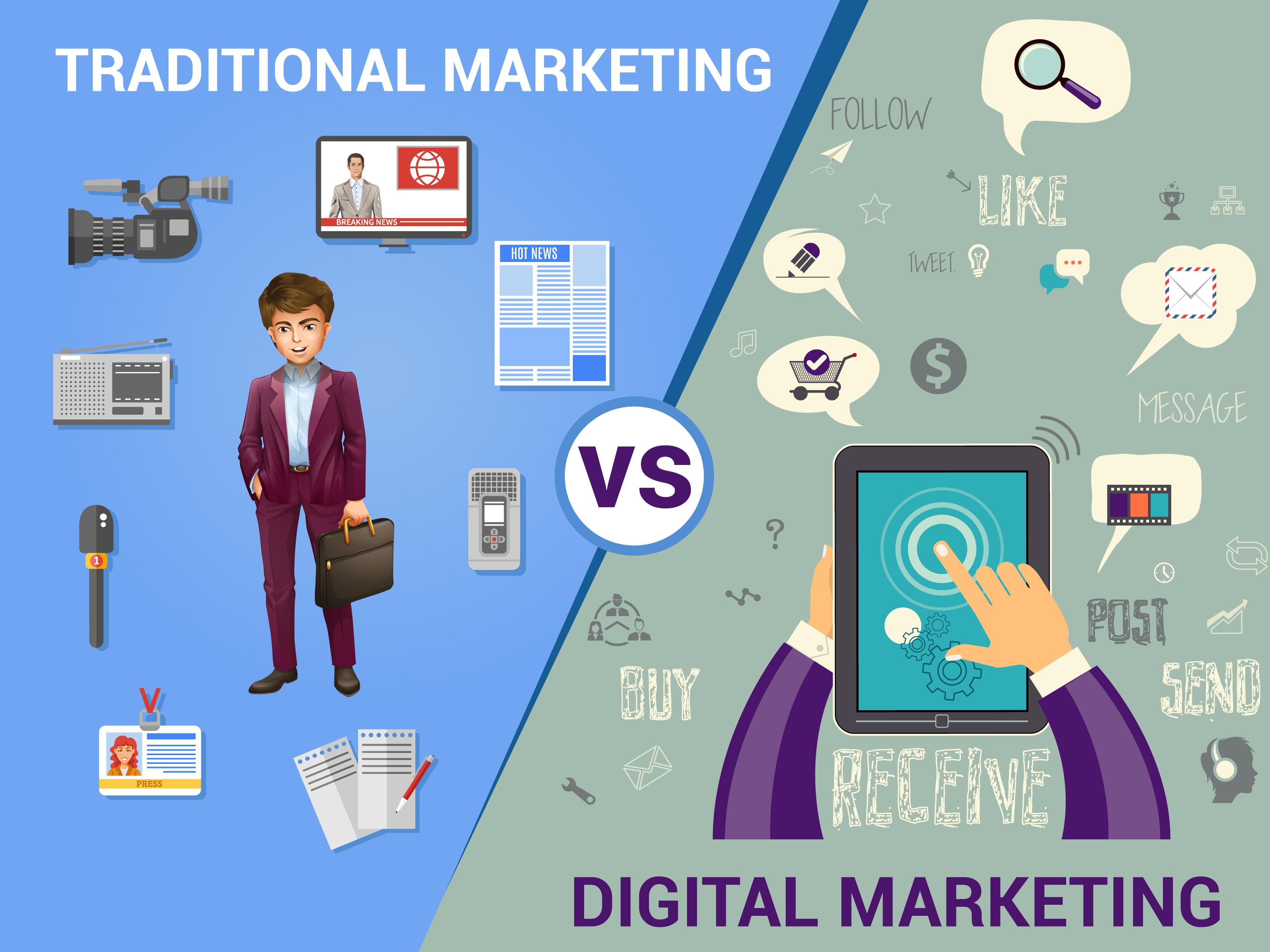 Image result for digital marketing vs traditional